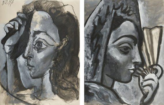 """Пабло Пикассо """"Портрет женщины. Профиль"""" (Tête de femme. Profil) и """"Испанка с веером"""" (Espagnole à l'éventail)"""