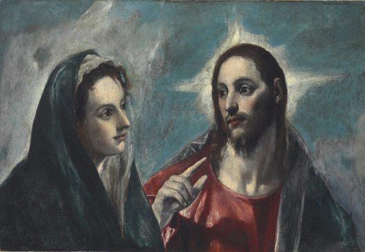 """""""Христос прощается со своей матерью» или """"Портрет Иисуса и Мадонны"""" (Portrait de Jesus et Madonna)Эль Греко, (1541-1614), 1585 года"""