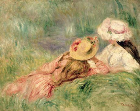 """Девушки на берегу"" (Jeune Filles Au Bord De L'Eau), Пьер Огюста Ренуар (1841–1919)"