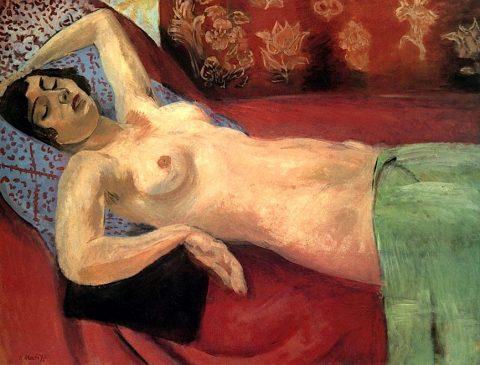 """""""Обнаженная в зеленой шали""""(Nu au Châle Vert), Анри Матисс (1869-1954), 1921-1922 год"""