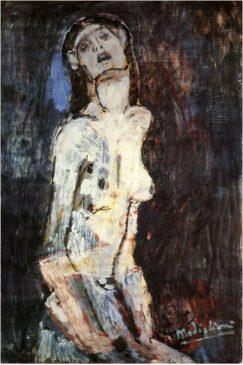 """""""Страдающая обнаженная"""" (Nu dolent) Амедео Модильяни(1884-1920), 1908 года"""