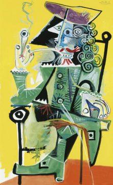 «Мушкетер с трубкой» (Mousquetaire a la Pipe) Пабло Пикассо(1881-1973)1968 года