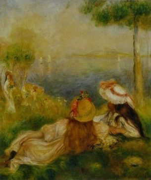 """""""Девушки на берегу моря"""" (Jeunes_Filles_au_bord_de_la_mer), Пьер Огюста Ренуар (1841–1919), 1894 года"""