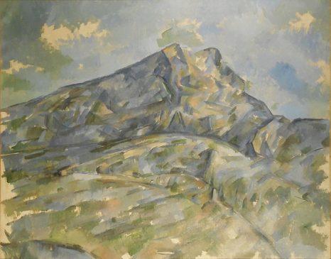 """""""Гора Сент-Виктуар, увиденная из рощиЧерного замка» (La Montagne Sainte-Victoire vue du bosquet du Château Noir), 1904, Поль Сезанн"""