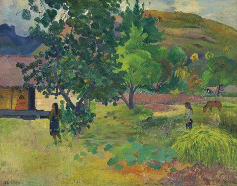 """""""Дом"""" (Te Fare - La Maison), Поль Гоген (1848-1903), 1892 года"""