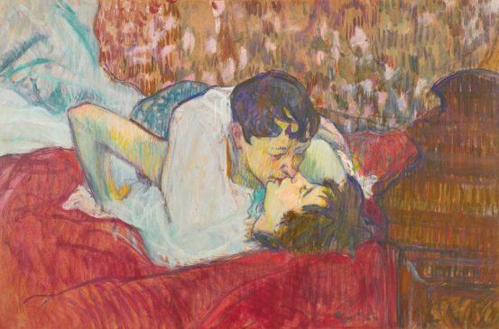 """""""Поцелуй"""" (Le baiser (rouge) Тулуз-Лотрека (1864-1901), 1892 года"""