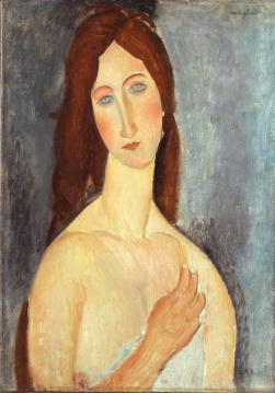 """""""Мадам Эбюртен с обнаженными плечами"""" (Madame Hebuterne aux Epaules nues) Амедео Модильяни(1884-1920), 1919 года"""