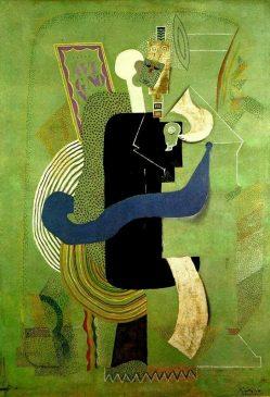 """""""Человек, сидящий со стаканом"""" (l'homme assis au verre) Пабло Пикассо (1881-1973),1914 года"""