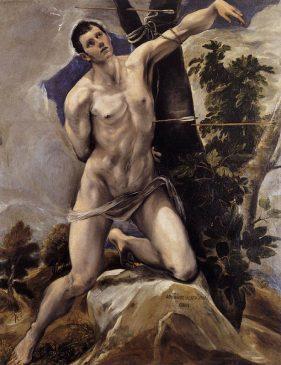 """(1) """"Святой Себастьян» (St Sebastien)Эль Греко (1541-1614), 1577-1578 года"""