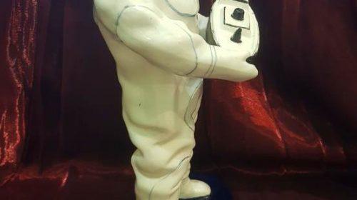 """""""Статуэтка «Эпроновец», Конаково, 1930-е г., скульптор И. Чайков, фаянс"""""""