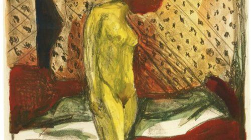 "Эдвард Мунк (1863-1944) ""Плачущая девушка у кровати"" (Gråtendeung kvinne ved sengen) 1930"