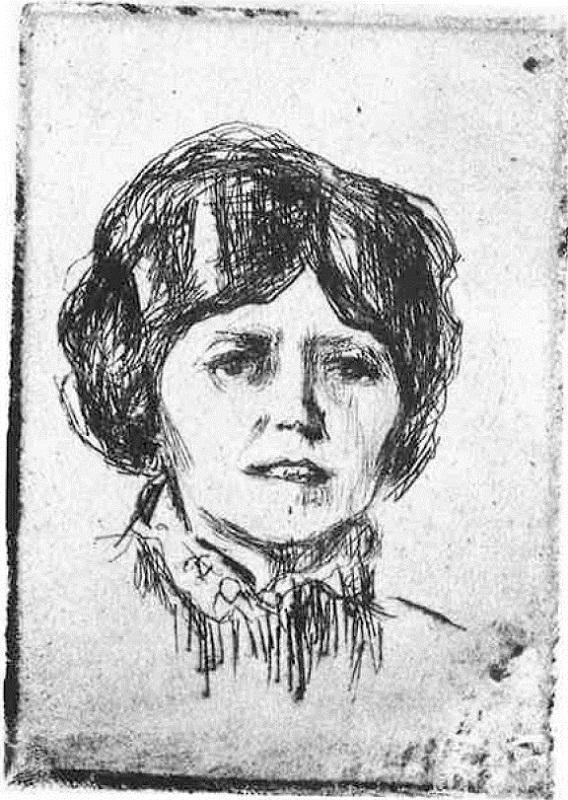 """Эдвард Мунк (1863-1944) """"Портрет фру Р."""" (Portrett av fru R.)"""