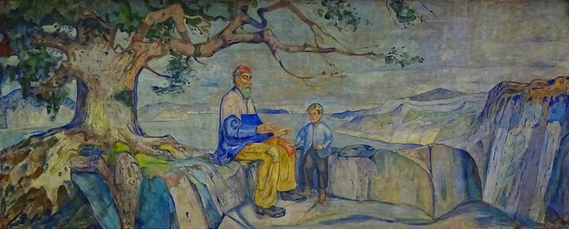 Эдвард Мунк (1863-1944) «История» (Historien) 1916 года