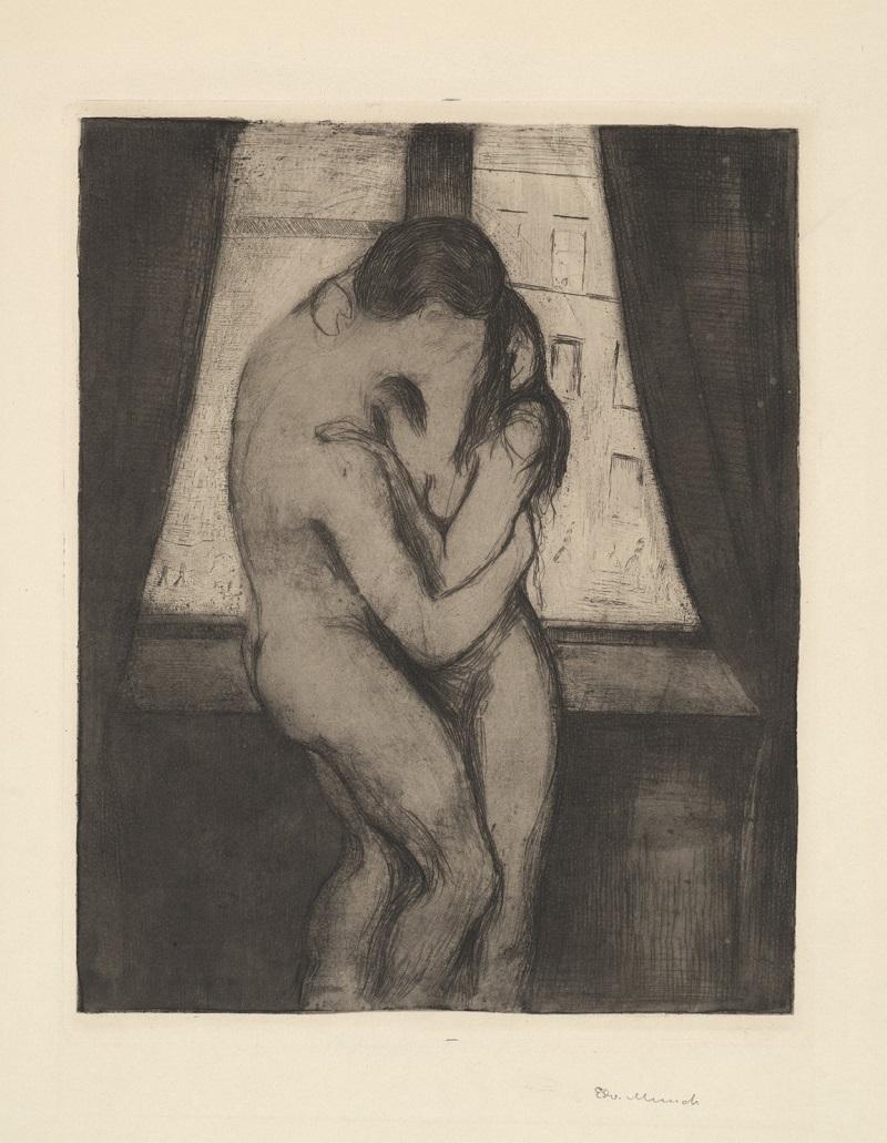 "Эдвард Мунк (1863-1944) ""Поцелуй"" (Kyss) 1895"