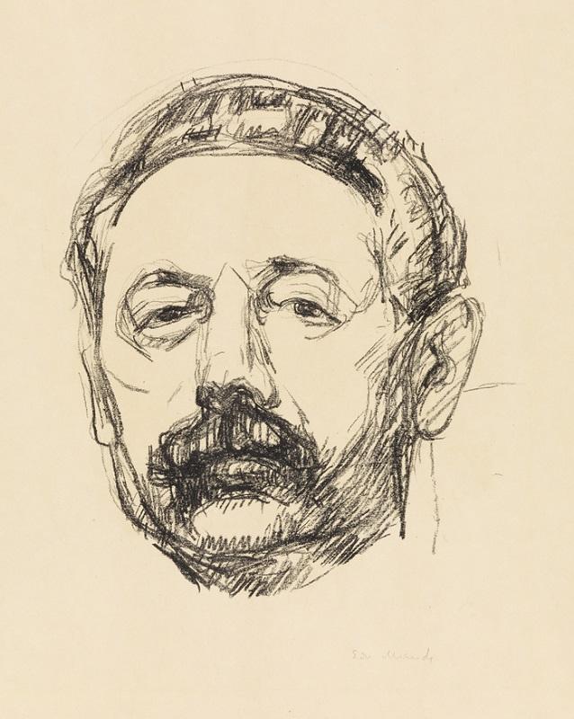 "Эдвард Мунк (1863-1944) ""Портрет Тора Хедберга"" (Portrett av Tor Hedberg)1912"
