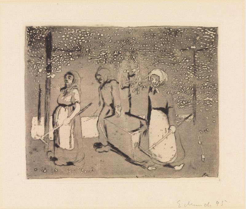 """Эдвард Мунк (1863-1944) """"Тиргартен-Берлин"""" (Tiergarten - Berlin)1895"""