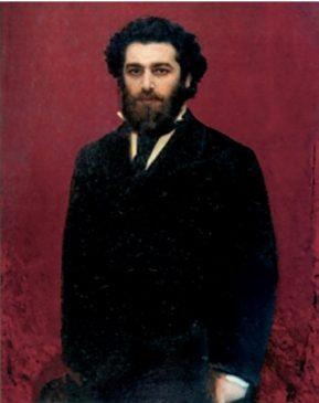 """Архип Куинджи (1842-1910) """"И.Н. Крамской"""", 1870-е"""