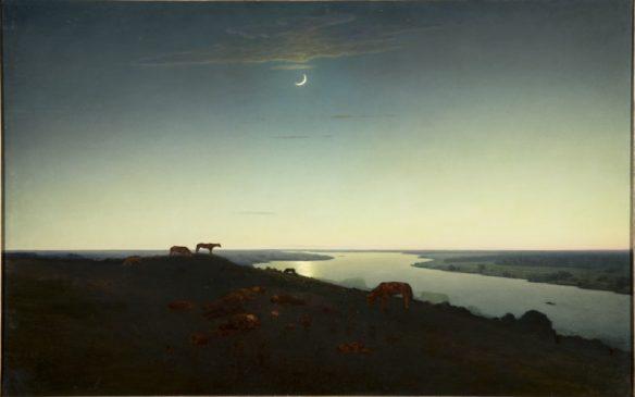 """Архип Куинджи (1842-1910) """"Ночное"""", 1905–1908"""