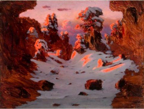 """Архип Куинджи (1842-1910) """"Эффект заката"""", 1900-е"""