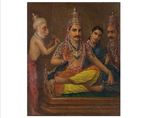 Raja Ravi Varma Hanuman`s Discourse