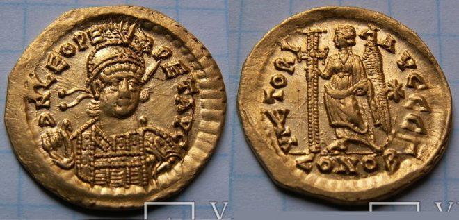 Солид Льва 1 (457-474 г. н.э.)