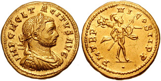 Ауреус Тацита, золото, 6,56 грамма