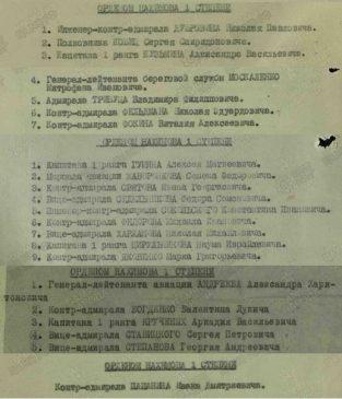 Кавалеры ордена Нахимова I степени