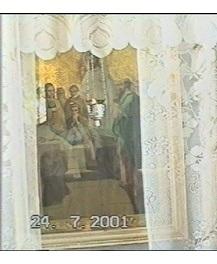 Ікона УСПЄНІЄ БОЖОЇ МАТЕРІ, 19 век, крадіжка 21.02.2007 з церкви с. БРУСИЛІВ Чернігівської області
