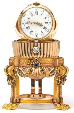1887 год - пасхальное яйцо «Золотое яйцо с часами»