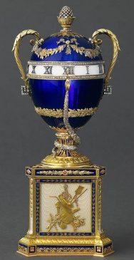 1895 - «Синее яйцо-часы со змеёй» («Яйцо-часы с синей змеёй»)