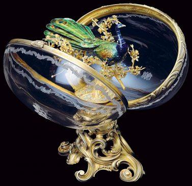 1908 год - императорское пасхальное яйцо «Павлин»