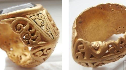 Римский перстень с геммой. Инталия. I-II век