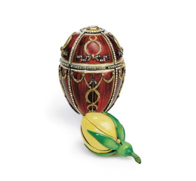 1895 год -пасхальное яйцо «Бутон розы»