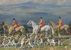 Картина со сценой собачьей охоты самого прославленного рисовальщика лошадей Альфреда Маннингса продана за 2,17 млн фунтов стерлингов