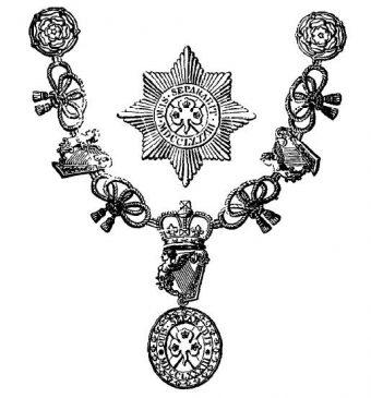 Знак, цепь и звезда Рыцаря Святого Патрика2