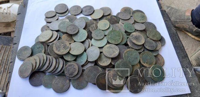 Комплект молдово-валашских монет разных номиналов