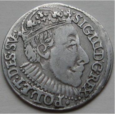 Трояк 1588 года Сигизмунд III Ваза