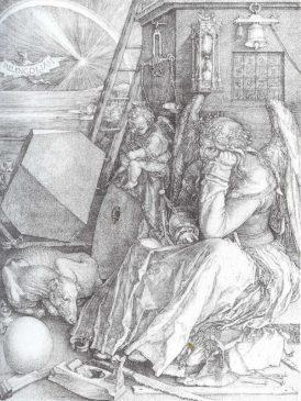 Альбрехт Дюрер «Меланхолия I» 1541 год (23,9 х 16,8 см)