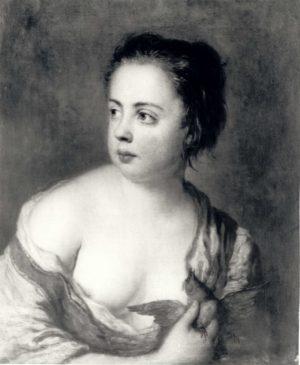 Антуан Пэн «Девочка с голубем» 1754 год