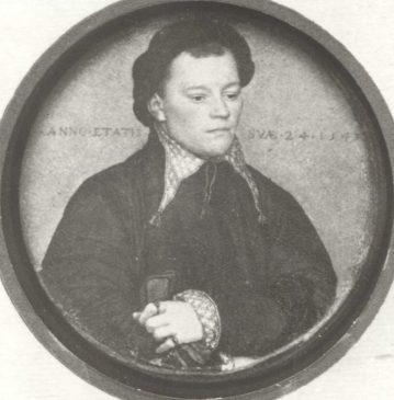 """Ганс Гольбейн Младший """"Портрет Иоганна фон Шварцвальдта"""" 1543 год (диам. 5 см)"""