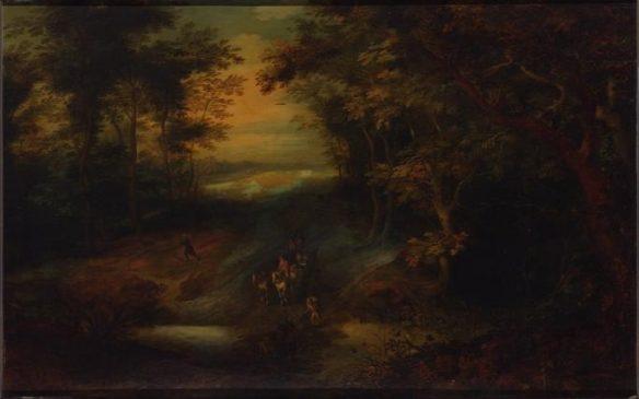 Ян Брейгель Старший «Лесной пейзаж» 17-й век (56 х 89 см)