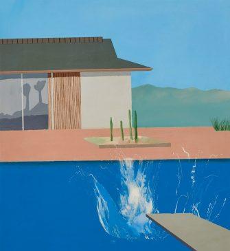 """Дэвид Хокни (1937-…) «Всплеск» (""""The Splash"""") 1966 год, 183 х 183 см"""