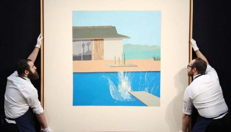Картину «Всплеск» Дэвида Хокни продали за 23,1 млн фунтов стерлингов
