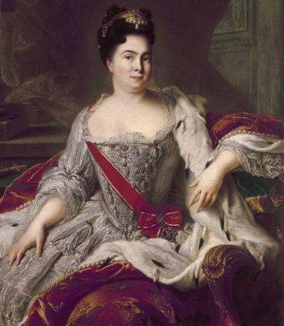 Императрица Екатерина I с орденом Святой Екатерины