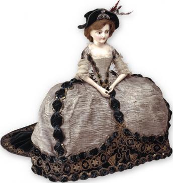 Кукла-манекен в платье начальницы ордена Святой Екатерины.Западная Европа, 1797-1798 гг. Музеи Московского Кремля