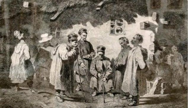«Судня рада», 1844, офорт Тараса Шевченко