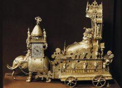 Настольные часы «Бахус». Аугсбург, конец XVI века, неизвестный мастер