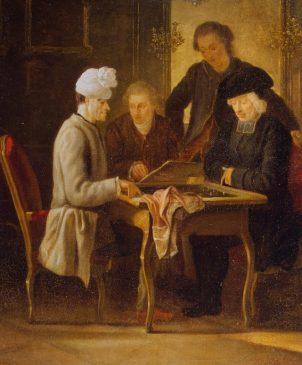 Гюбер, Жан. 1721-1786 Вольтер за шахматами