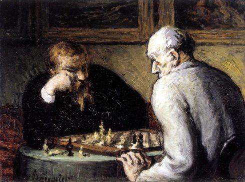 Оноре Домье (Honoré_Daumier), Шахматисты