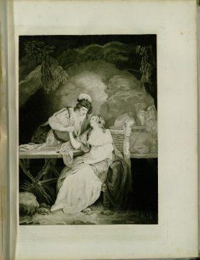 Смит Бенжамин 1754-1833.Буря. Проспер и Миранда, играющие в шахматы. Акт I, сцена I